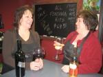 Kim Moen, owner of Wine Beginnings witha friend
